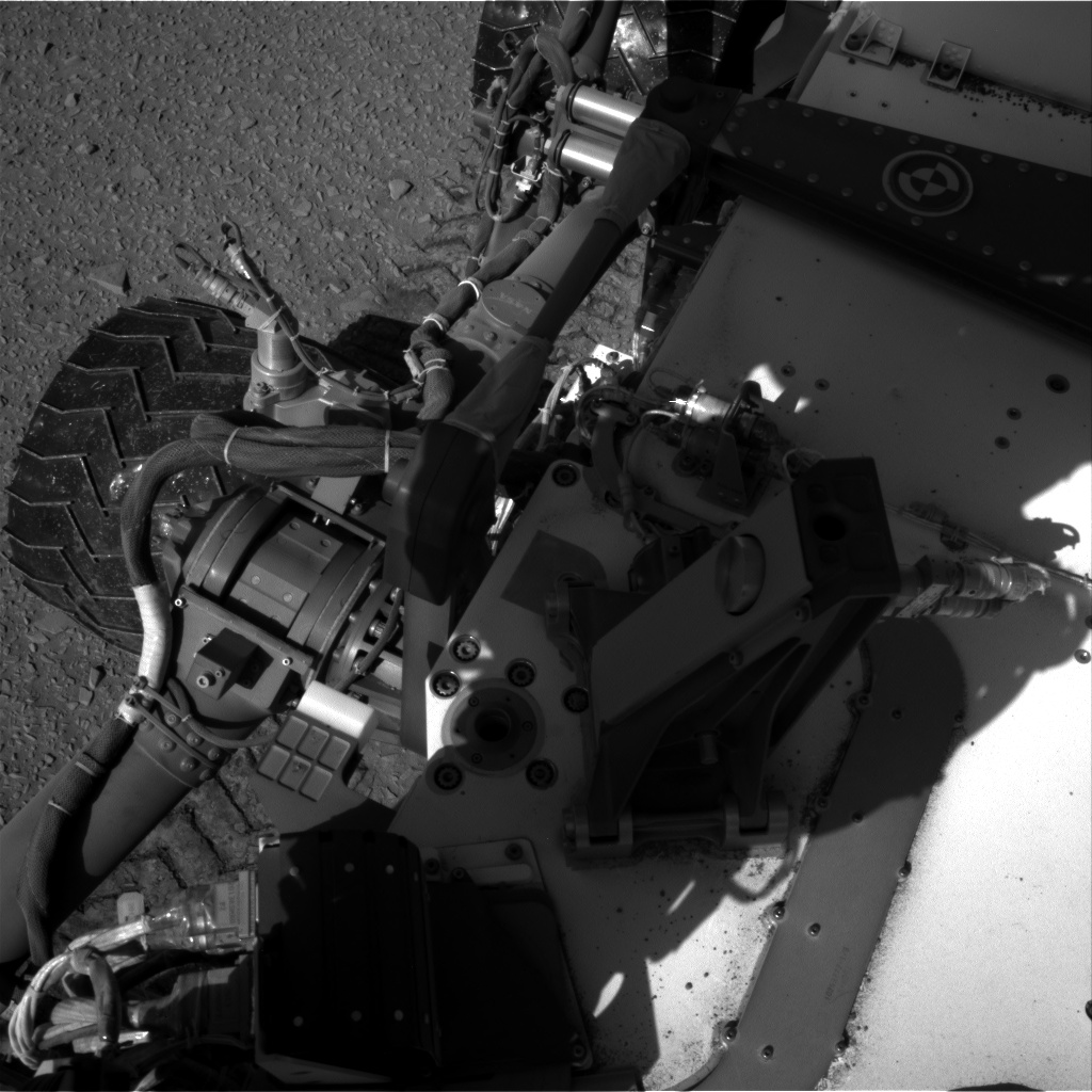 Nasa's Mars rover Curiosity acquired this image using its Right Navigation Camera on Sol 527, at drive 1836, site number 25