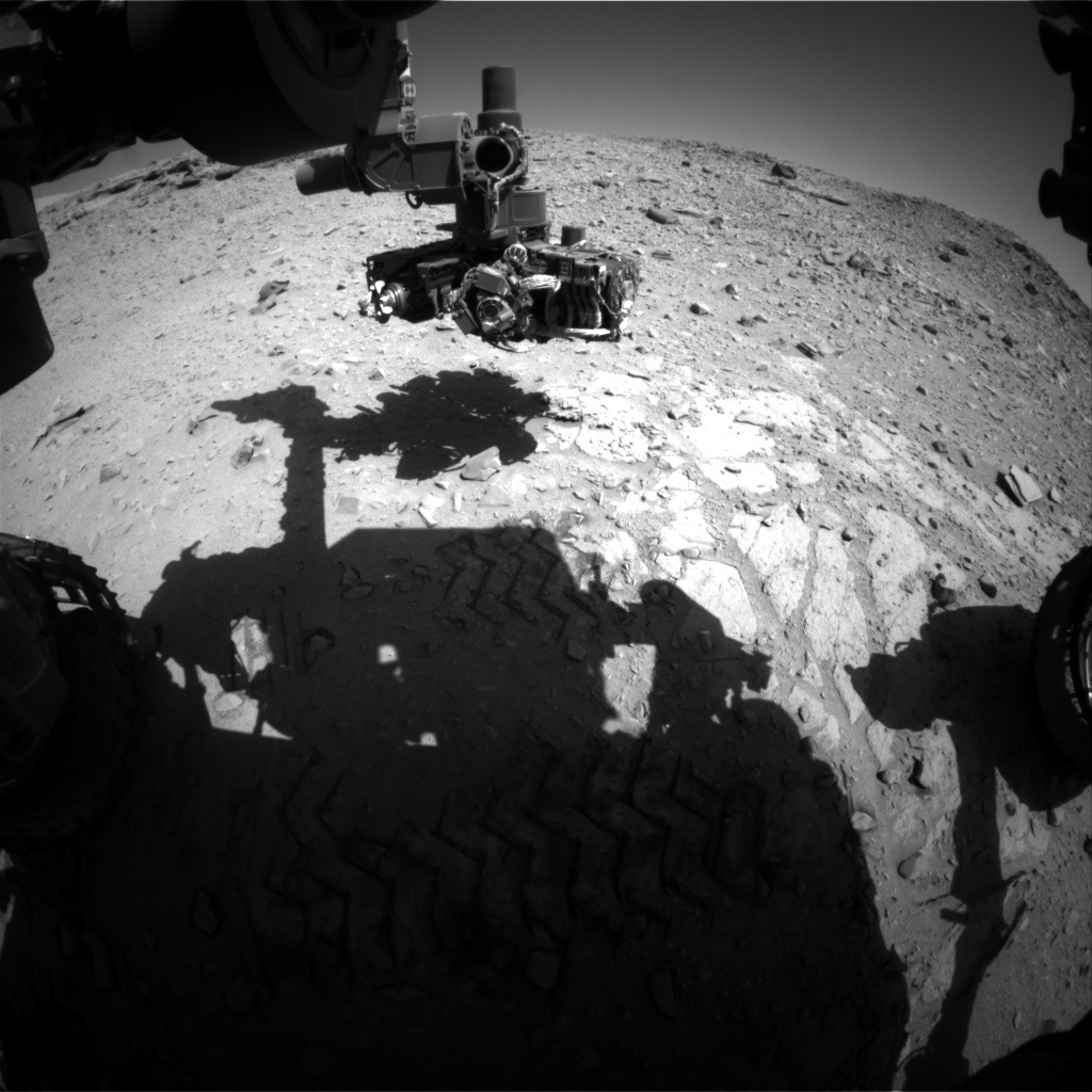 NASA's Mars rover Curiosity acquired this image using its Front Hazard Avoidance Cameras (Front Hazcams) on Sol 528