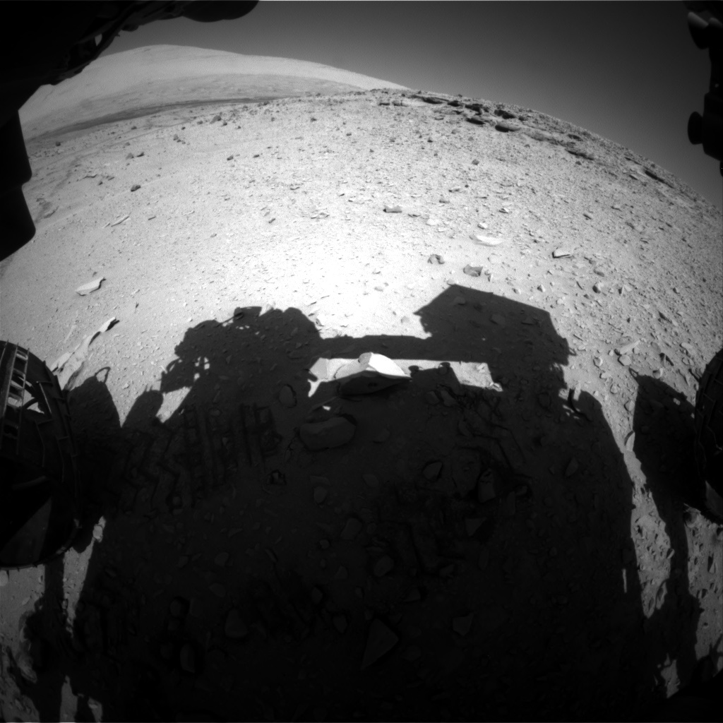 Nasa's Mars rover Curiosity acquired this image using its Front Hazard Avoidance Camera (Front Hazcam) on Sol 528, at drive 24, site number 26