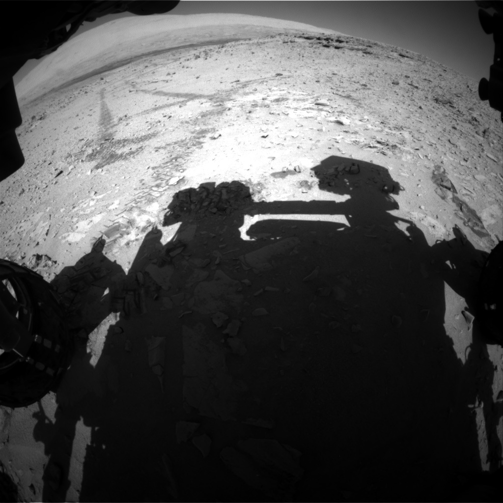 Nasa's Mars rover Curiosity acquired this image using its Front Hazard Avoidance Camera (Front Hazcam) on Sol 528, at drive 114, site number 26