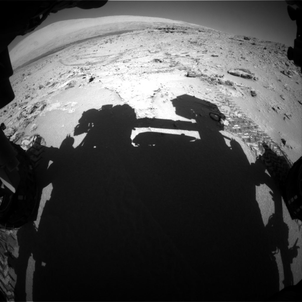 Nasa's Mars rover Curiosity acquired this image using its Front Hazard Avoidance Camera (Front Hazcam) on Sol 528, at drive 144, site number 26