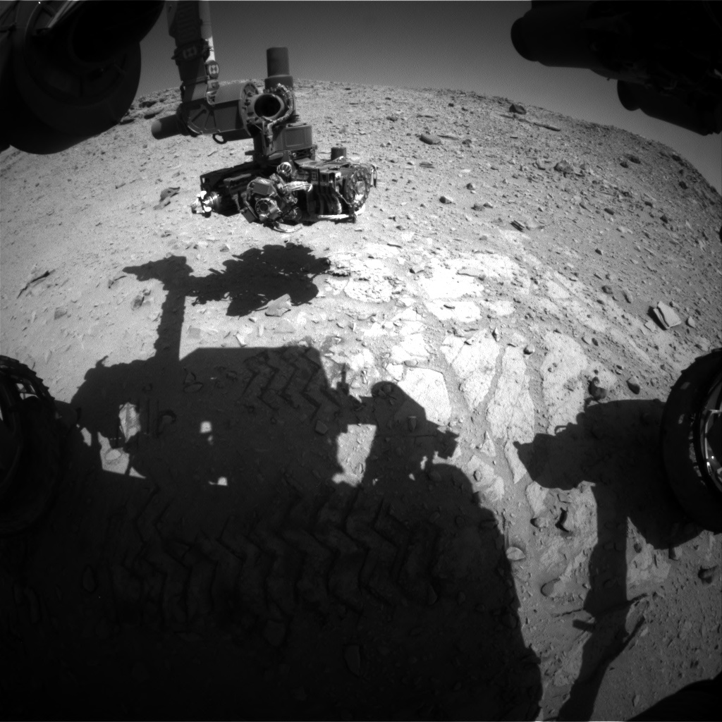 Nasa's Mars rover Curiosity acquired this image using its Front Hazard Avoidance Camera (Front Hazcam) on Sol 528, at drive 0, site number 26