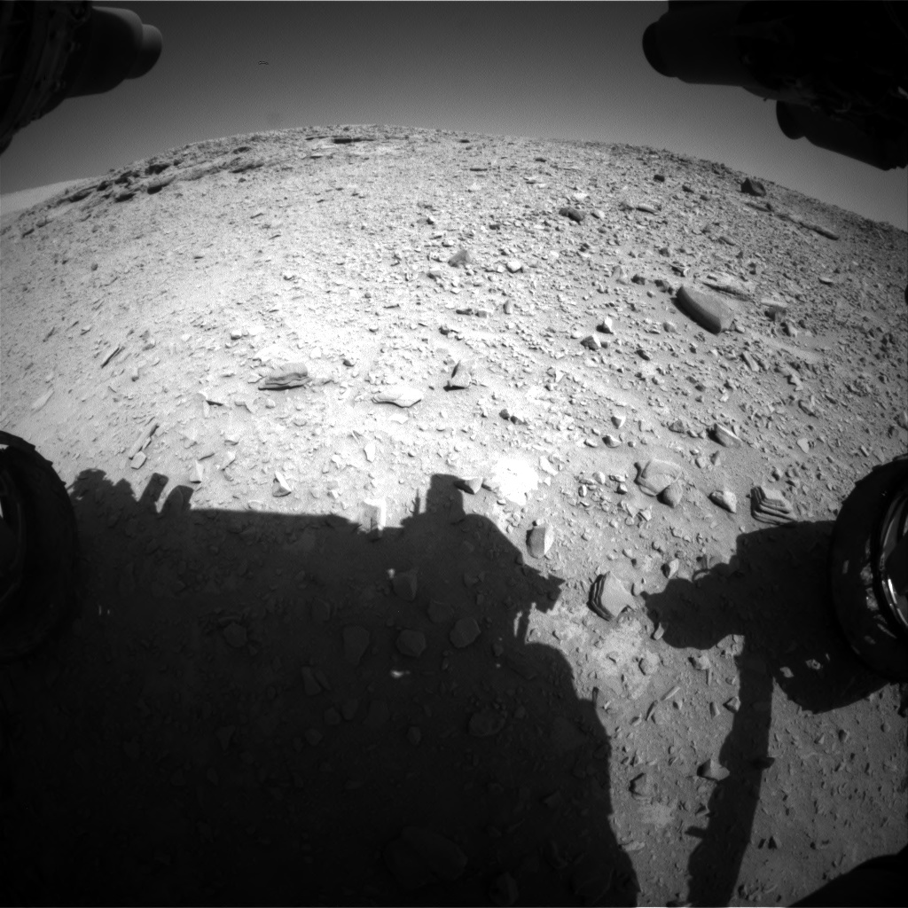 Nasa's Mars rover Curiosity acquired this image using its Front Hazard Avoidance Camera (Front Hazcam) on Sol 528, at drive 18, site number 26
