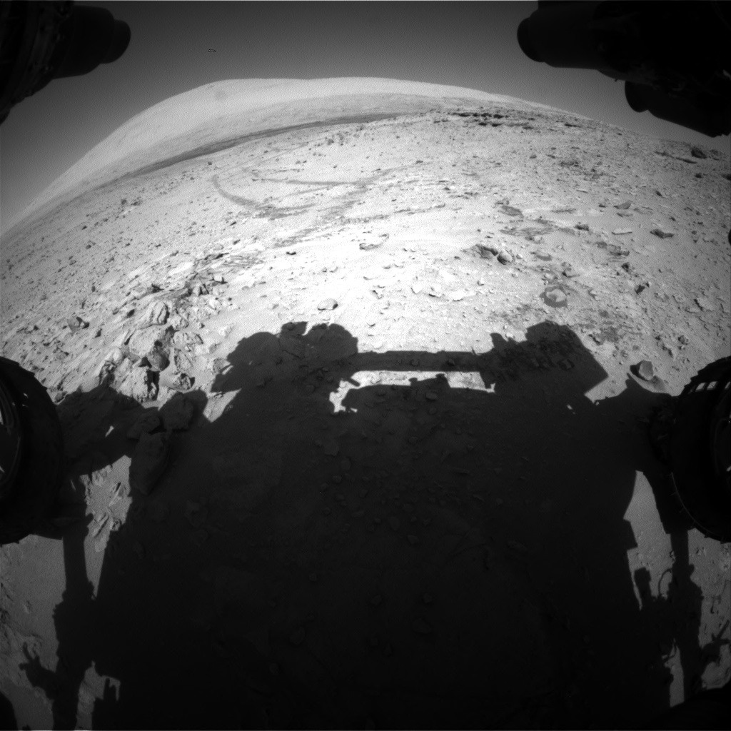Nasa's Mars rover Curiosity acquired this image using its Front Hazard Avoidance Camera (Front Hazcam) on Sol 528, at drive 132, site number 26