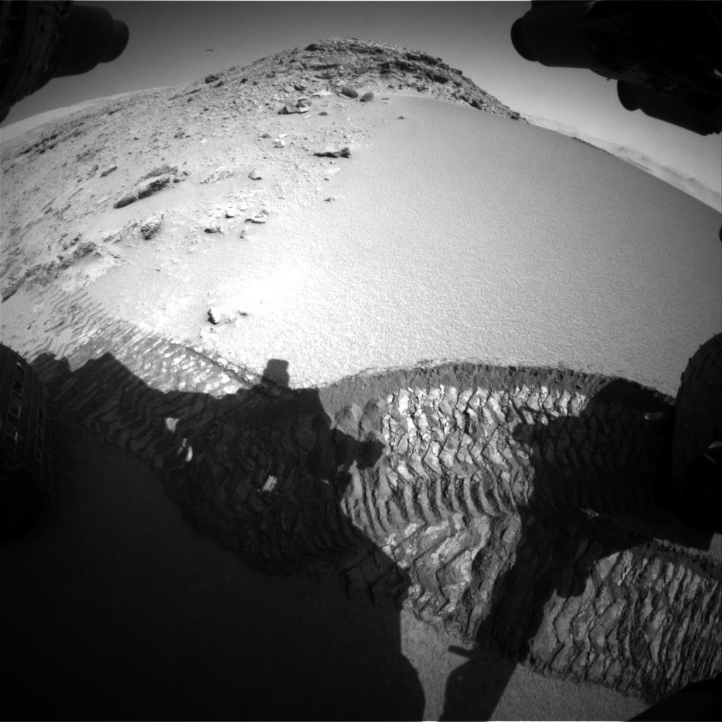 Nasa's Mars rover Curiosity acquired this image using its Front Hazard Avoidance Camera (Front Hazcam) on Sol 528, at drive 150, site number 26