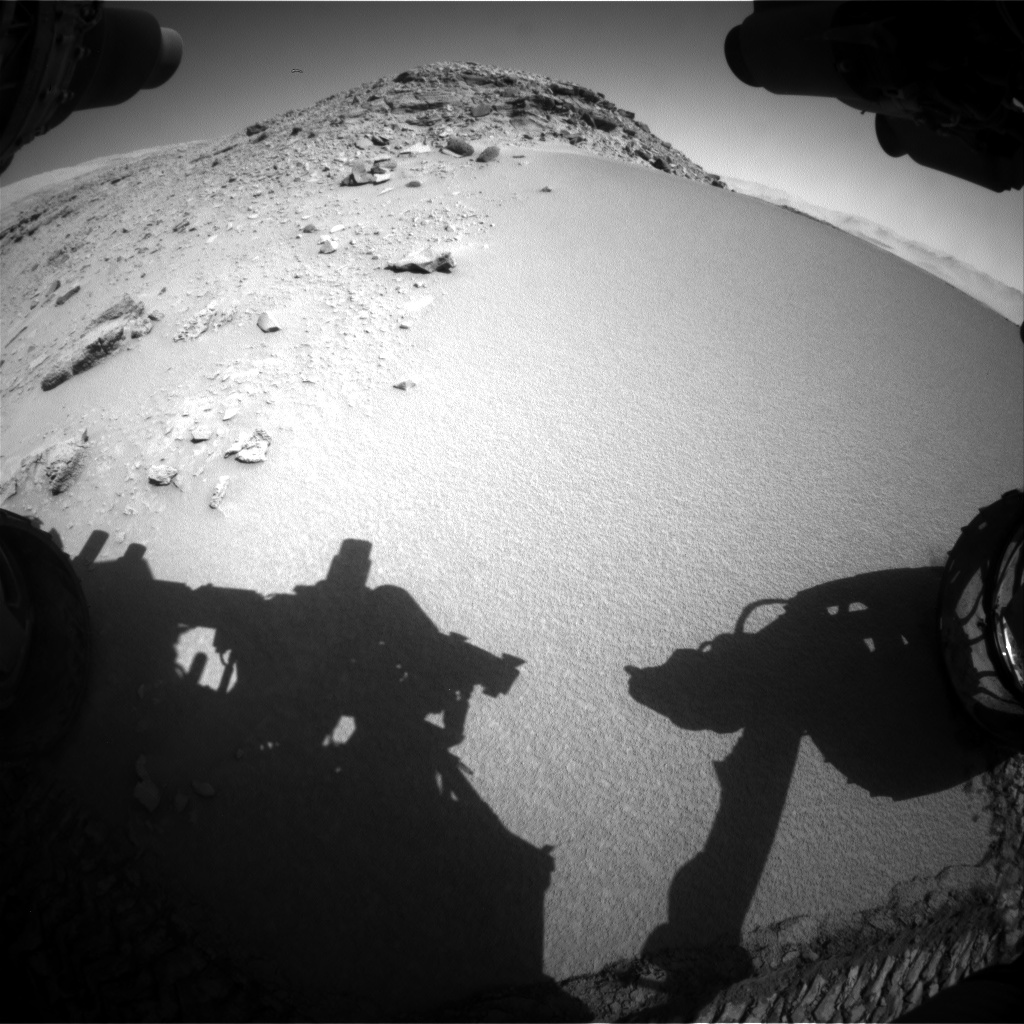 Nasa's Mars rover Curiosity acquired this image using its Front Hazard Avoidance Camera (Front Hazcam) on Sol 528, at drive 160, site number 26
