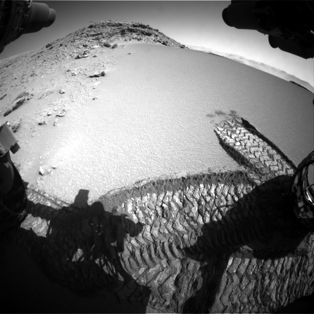 Nasa's Mars rover Curiosity acquired this image using its Front Hazard Avoidance Camera (Front Hazcam) on Sol 528, at drive 180, site number 26