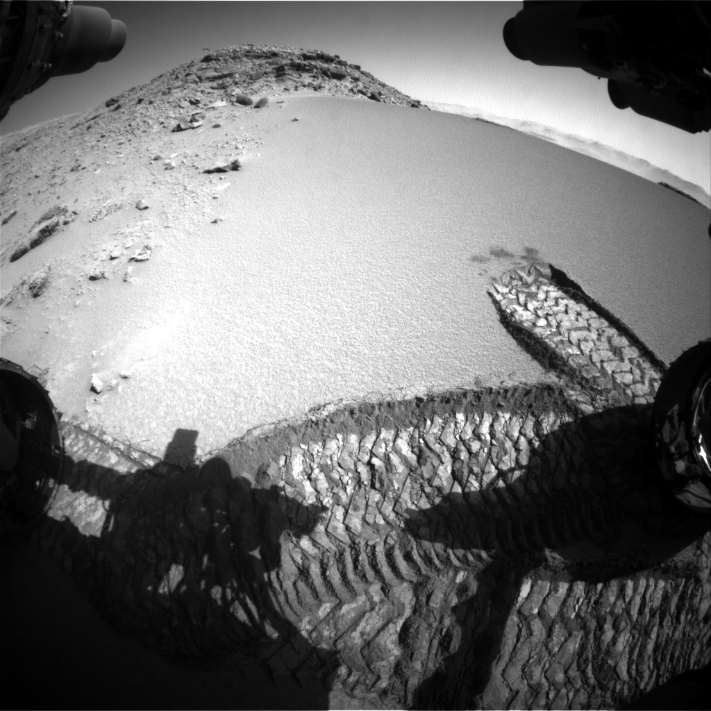 Nasa's Mars rover Curiosity acquired this image using its Front Hazard Avoidance Camera (Front Hazcam) on Sol 528, at drive 184, site number 26