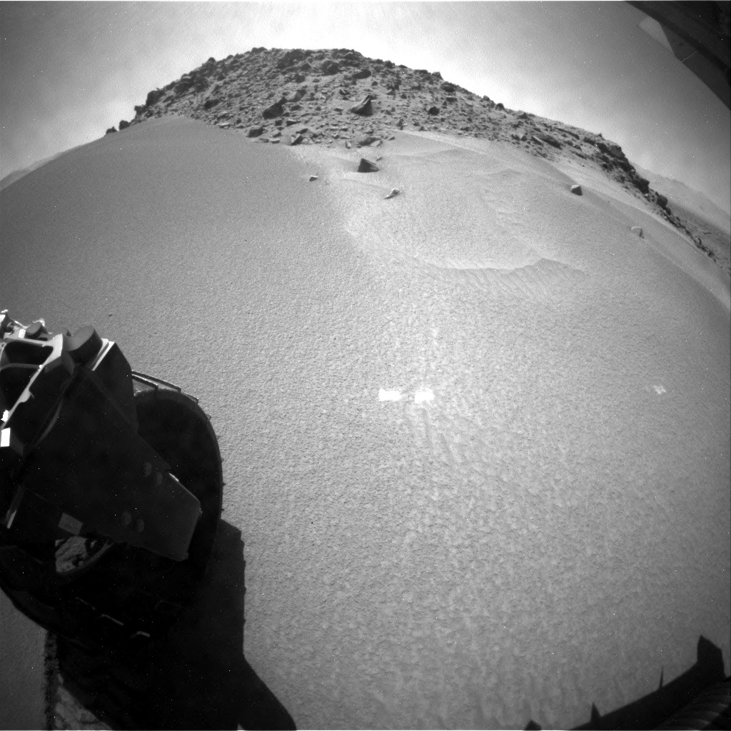 NASA's Mars rover Curiosity acquired this image using its Rear Hazard Avoidance Cameras (Rear Hazcams) on Sol 528