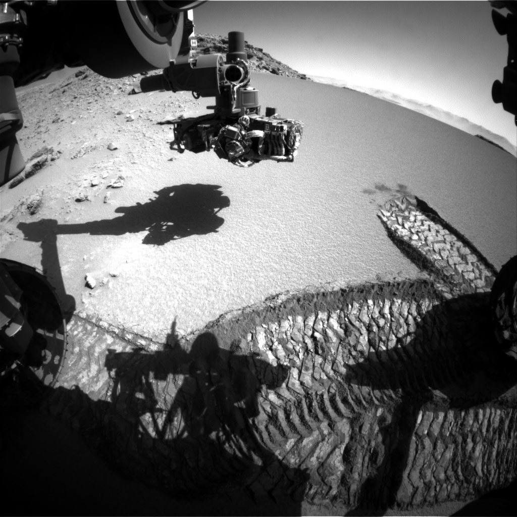 Nasa's Mars rover Curiosity acquired this image using its Front Hazard Avoidance Camera (Front Hazcam) on Sol 529, at drive 184, site number 26