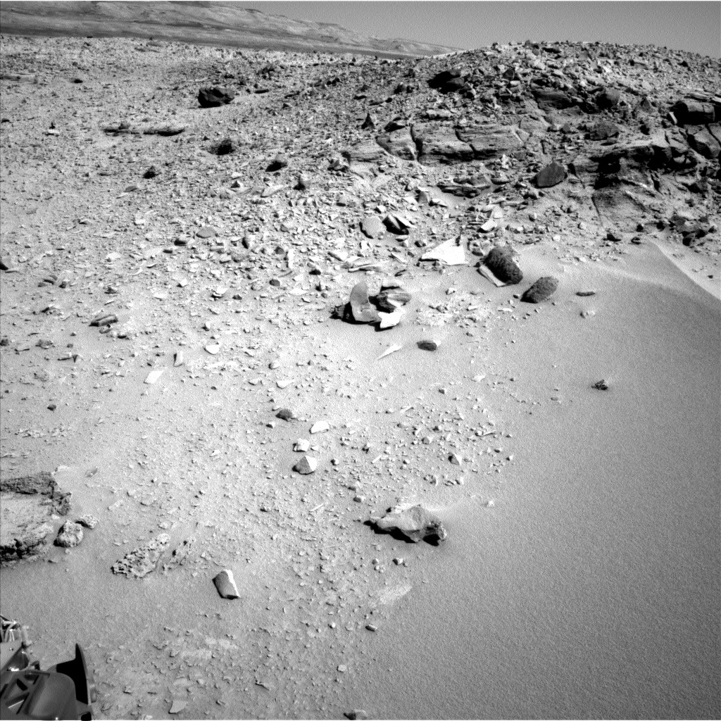 NASA's Mars rover Curiosity acquired this image using its Left Navigation Camera (Navcams) on Sol 529