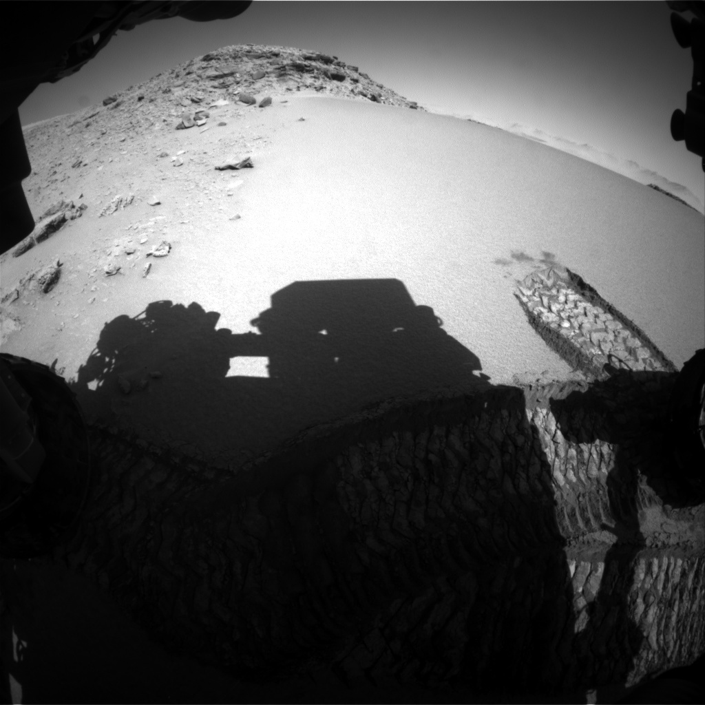 NASA's Mars rover Curiosity acquired this image using its Front Hazard Avoidance Cameras (Front Hazcams) on Sol 530