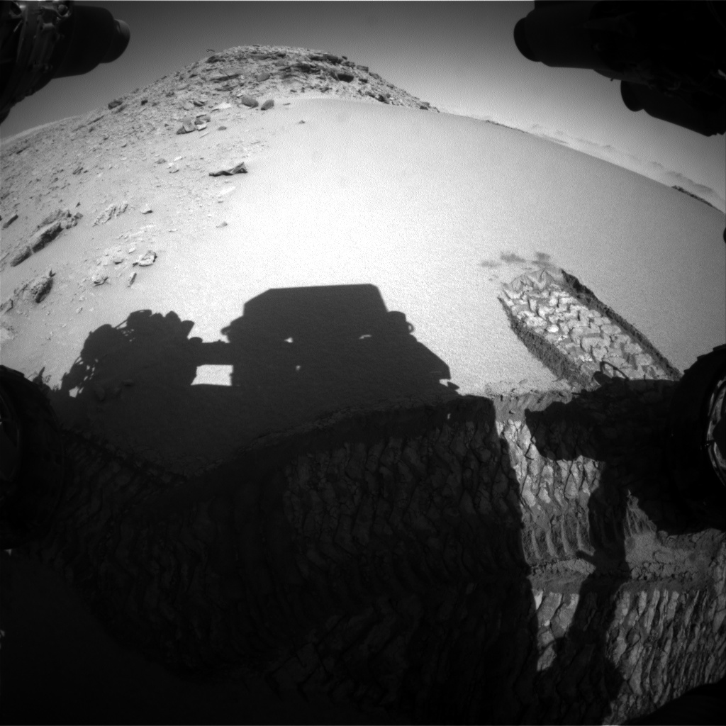 Nasa's Mars rover Curiosity acquired this image using its Front Hazard Avoidance Camera (Front Hazcam) on Sol 530, at drive 184, site number 26