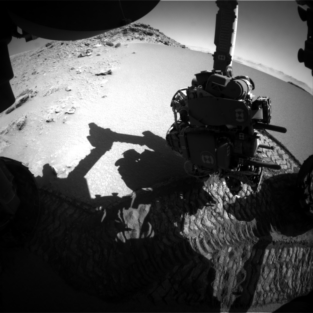 Nasa's Mars rover Curiosity acquired this image using its Front Hazard Avoidance Camera (Front Hazcam) on Sol 531, at drive 184, site number 26