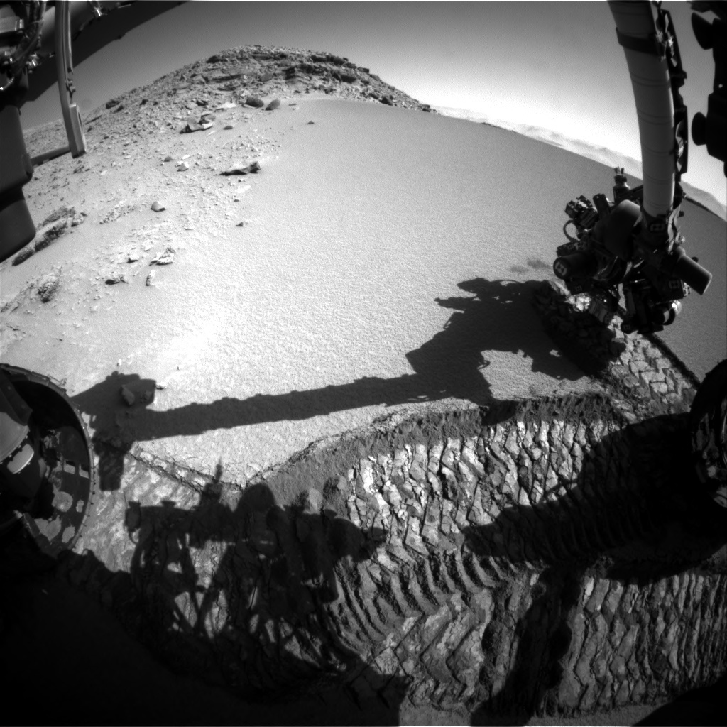 NASA's Mars rover Curiosity acquired this image using its Front Hazard Avoidance Cameras (Front Hazcams) on Sol 531