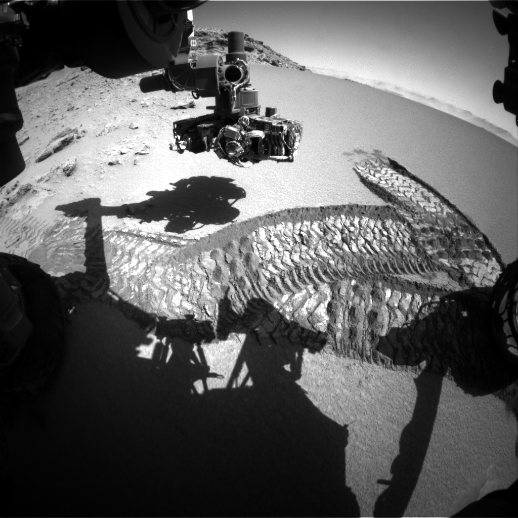 Nasa's Mars rover Curiosity acquired this image using its Front Hazard Avoidance Camera (Front Hazcam) on Sol 532, at drive 196, site number 26