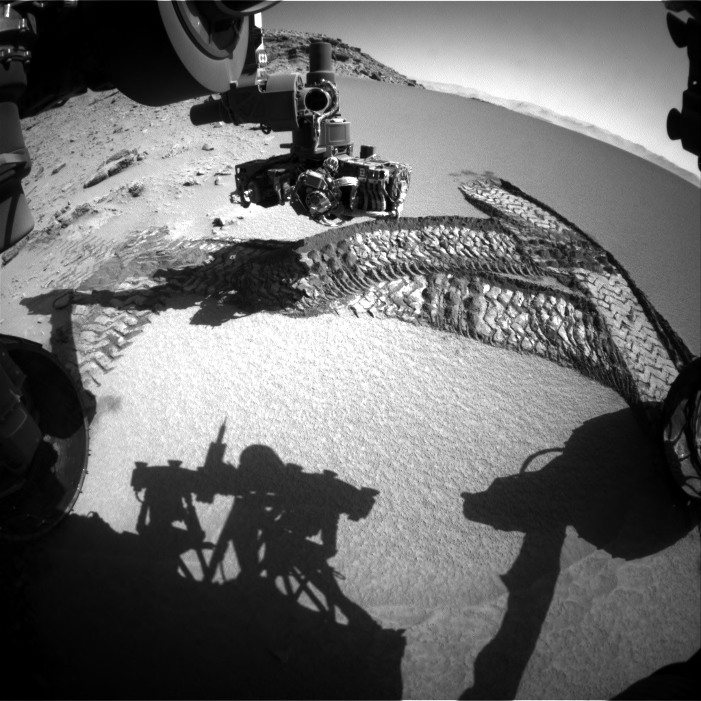 Nasa's Mars rover Curiosity acquired this image using its Front Hazard Avoidance Camera (Front Hazcam) on Sol 532, at drive 208, site number 26