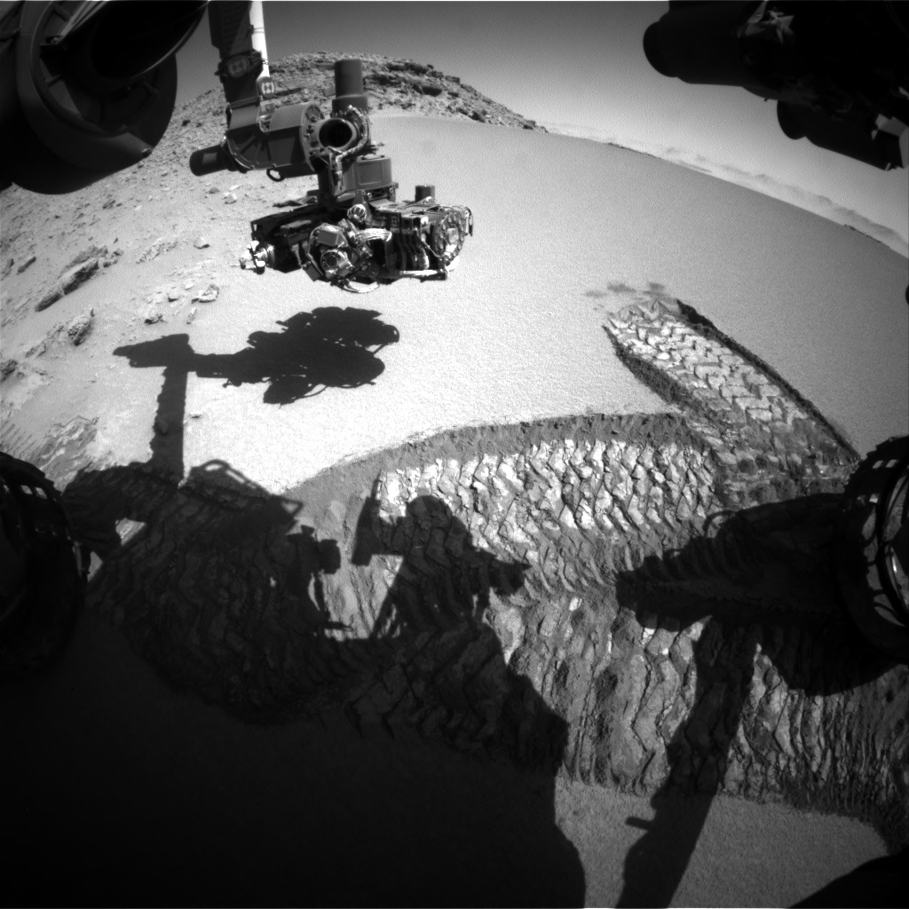 Nasa's Mars rover Curiosity acquired this image using its Front Hazard Avoidance Camera (Front Hazcam) on Sol 532, at drive 190, site number 26