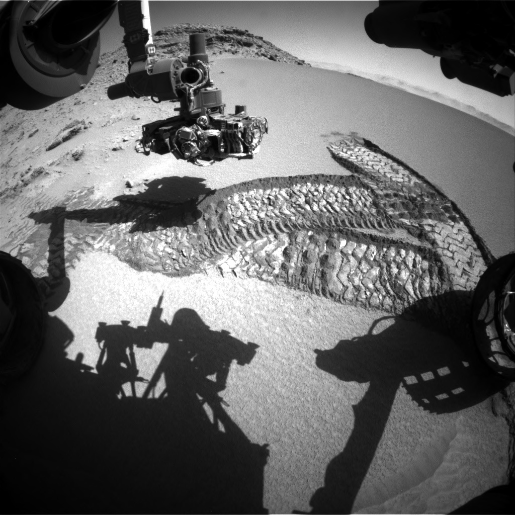 Nasa's Mars rover Curiosity acquired this image using its Front Hazard Avoidance Camera (Front Hazcam) on Sol 532, at drive 202, site number 26