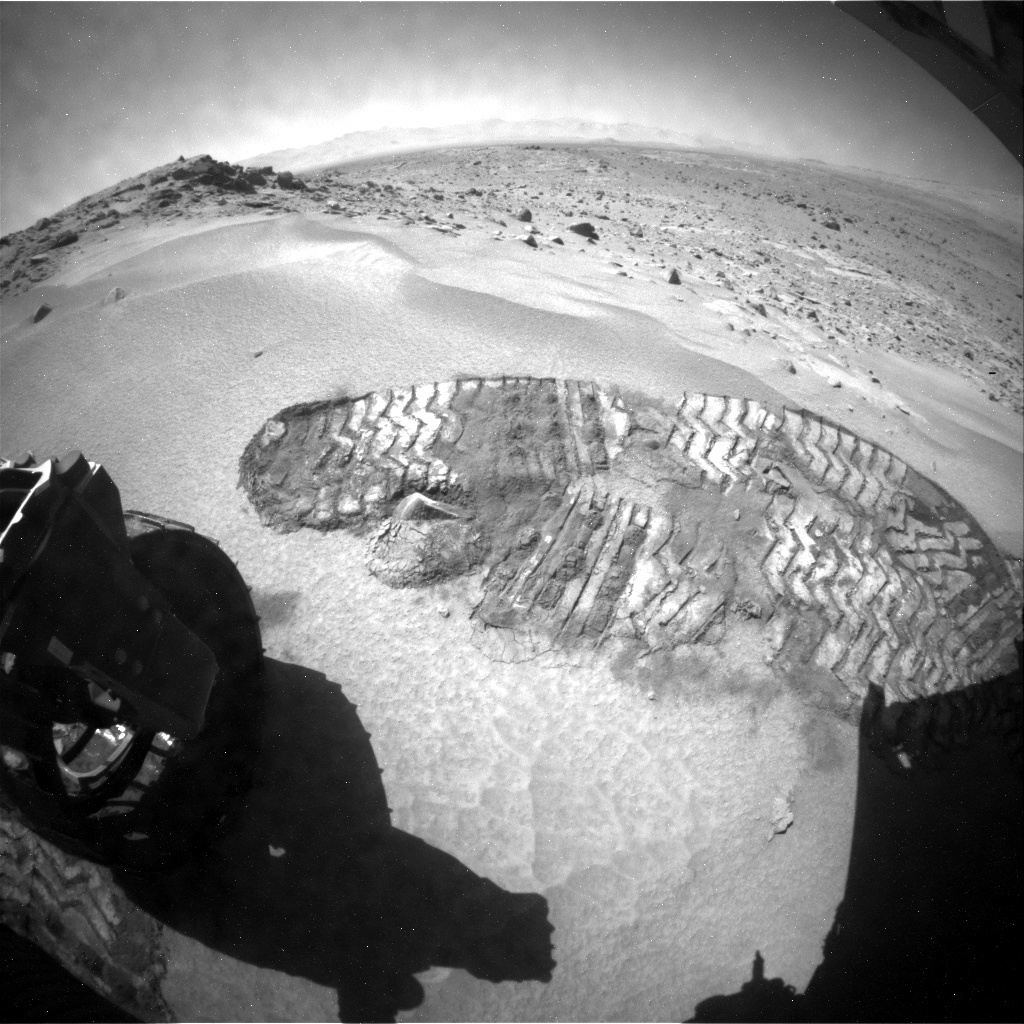 NASA's Mars rover Curiosity acquired this image using its Rear Hazard Avoidance Cameras (Rear Hazcams) on Sol 532
