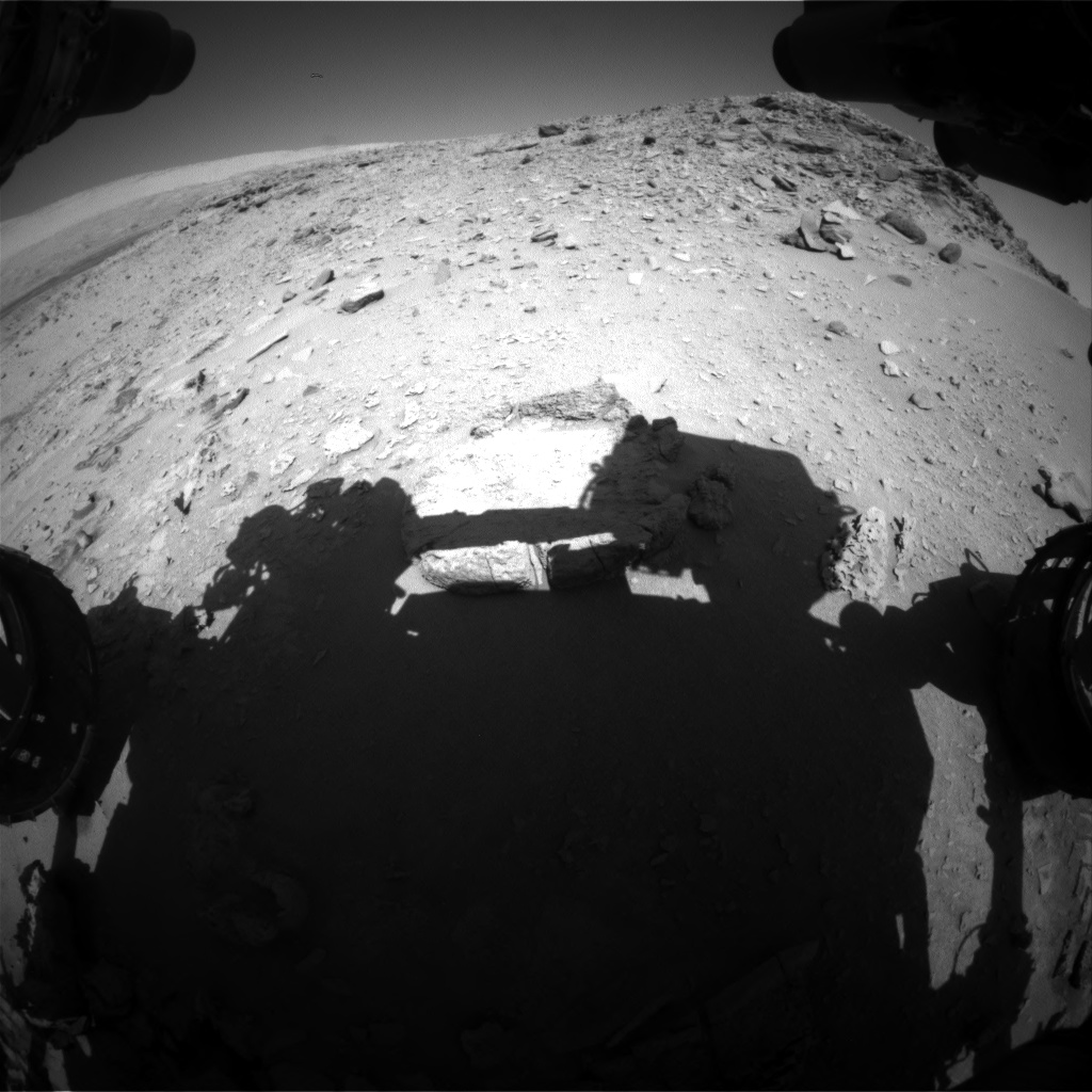 Nasa's Mars rover Curiosity acquired this image using its Front Hazard Avoidance Camera (Front Hazcam) on Sol 533, at drive 232, site number 26