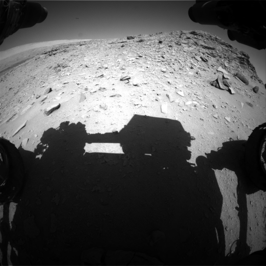 Nasa's Mars rover Curiosity acquired this image using its Front Hazard Avoidance Camera (Front Hazcam) on Sol 533, at drive 244, site number 26