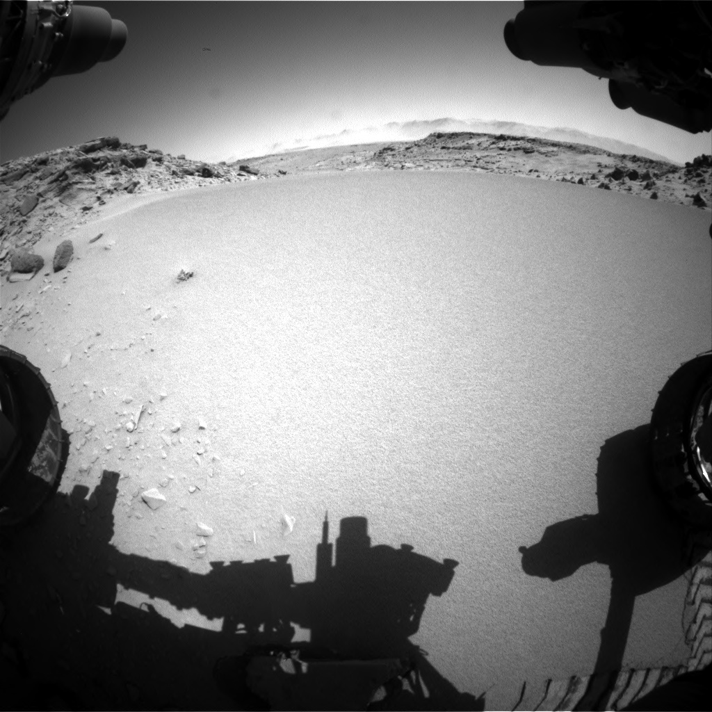 Nasa's Mars rover Curiosity acquired this image using its Front Hazard Avoidance Camera (Front Hazcam) on Sol 533, at drive 262, site number 26