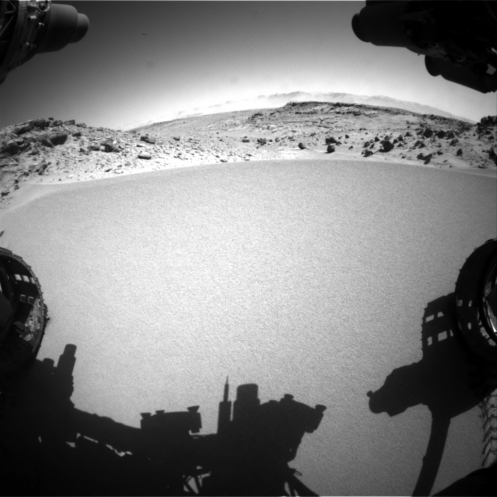 Nasa's Mars rover Curiosity acquired this image using its Front Hazard Avoidance Camera (Front Hazcam) on Sol 533, at drive 268, site number 26