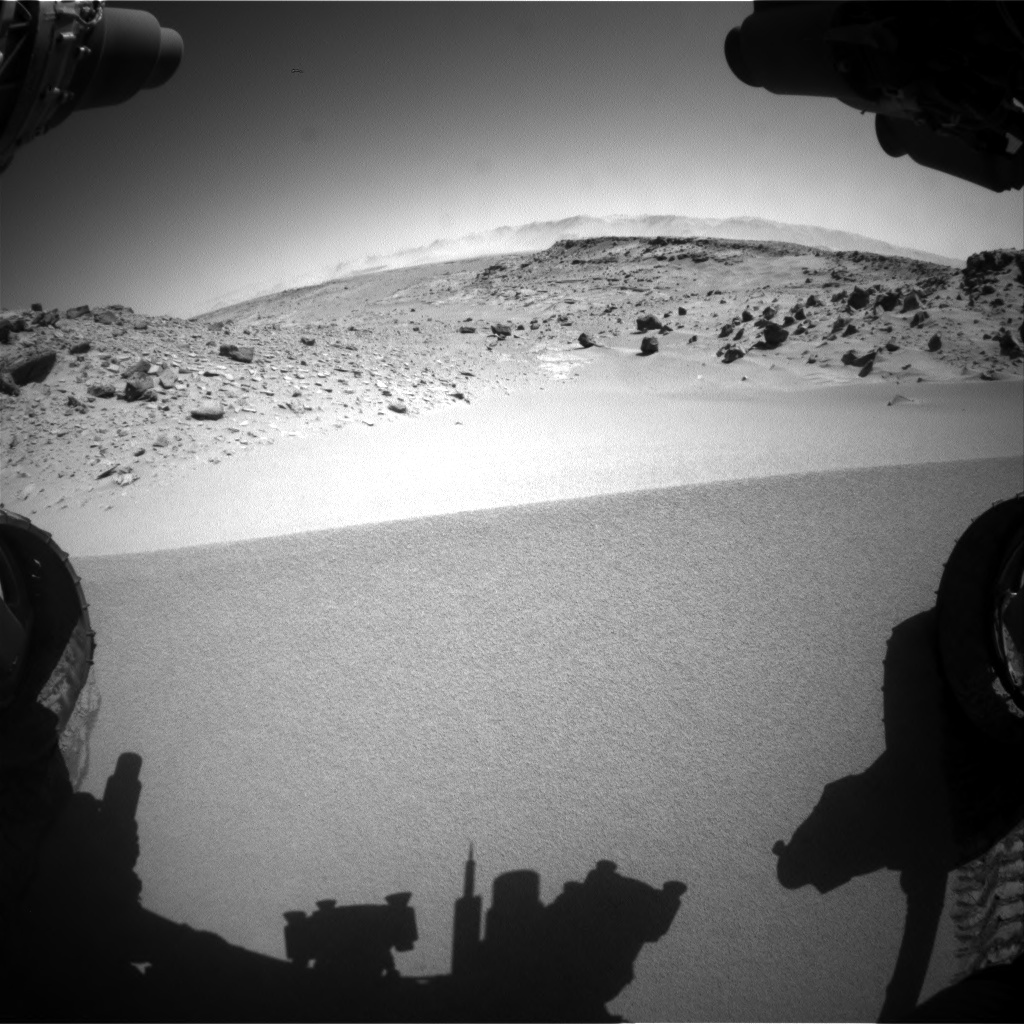 Nasa's Mars rover Curiosity acquired this image using its Front Hazard Avoidance Camera (Front Hazcam) on Sol 533, at drive 274, site number 26