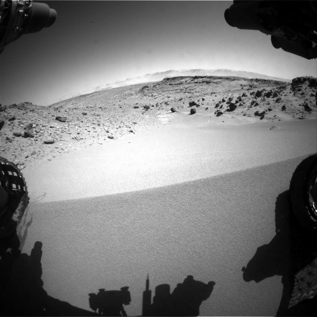 Nasa's Mars rover Curiosity acquired this image using its Front Hazard Avoidance Camera (Front Hazcam) on Sol 533, at drive 280, site number 26