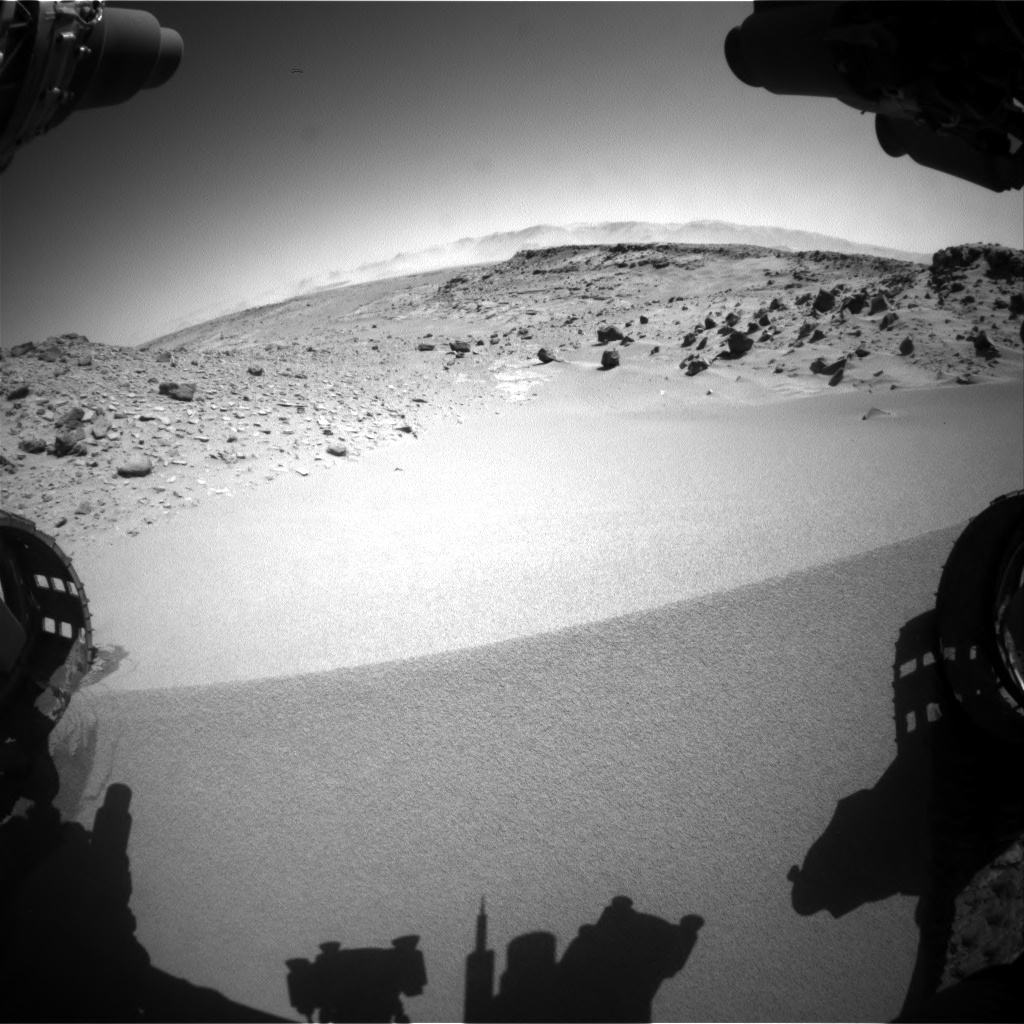 Nasa's Mars rover Curiosity acquired this image using its Front Hazard Avoidance Camera (Front Hazcam) on Sol 533, at drive 286, site number 26