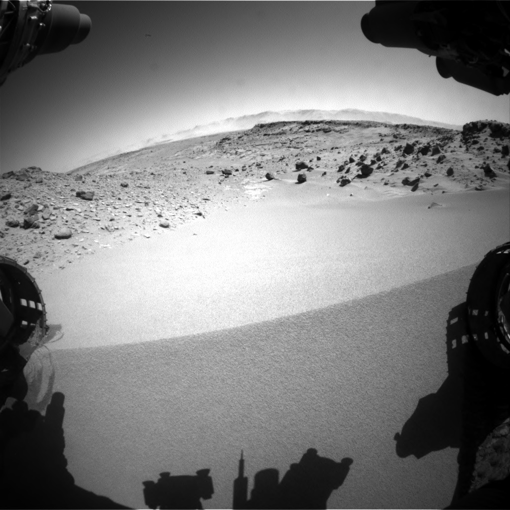 NASA's Mars rover Curiosity acquired this image using its Front Hazard Avoidance Cameras (Front Hazcams) on Sol 533