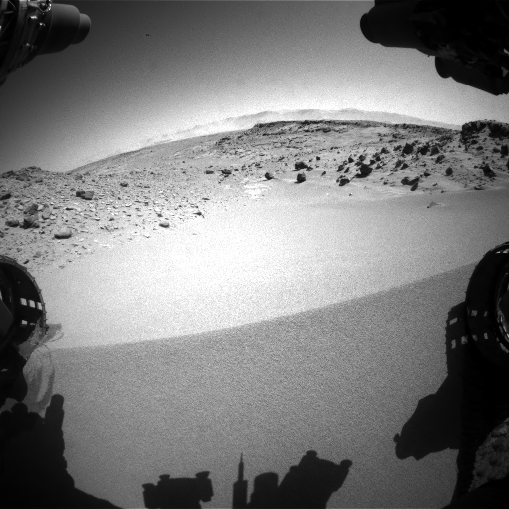 Nasa's Mars rover Curiosity acquired this image using its Front Hazard Avoidance Camera (Front Hazcam) on Sol 533, at drive 292, site number 26