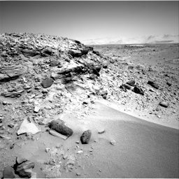 Nasa's Mars rover Curiosity acquired this image using its Right Navigation Camera on Sol 533, at drive 244, site number 26