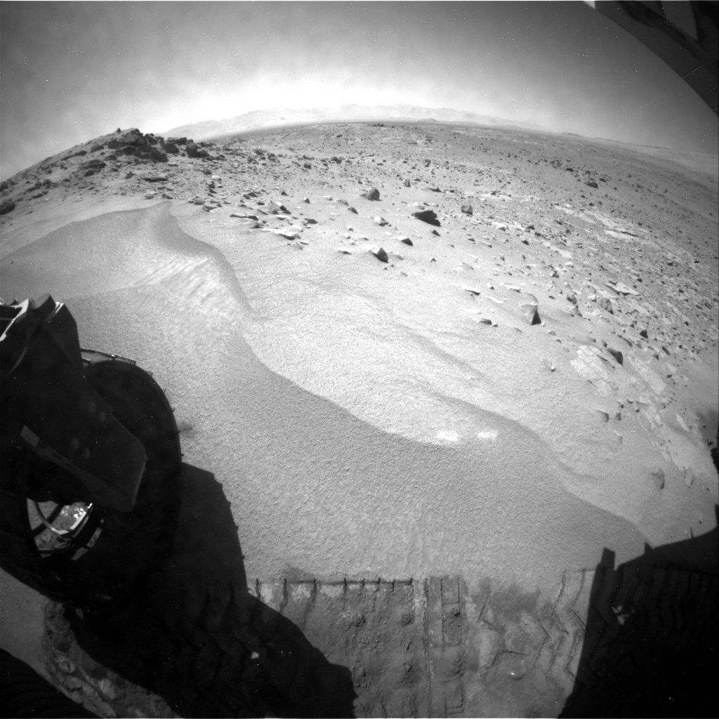 NASA's Mars rover Curiosity acquired this image using its Rear Hazard Avoidance Cameras (Rear Hazcams) on Sol 533