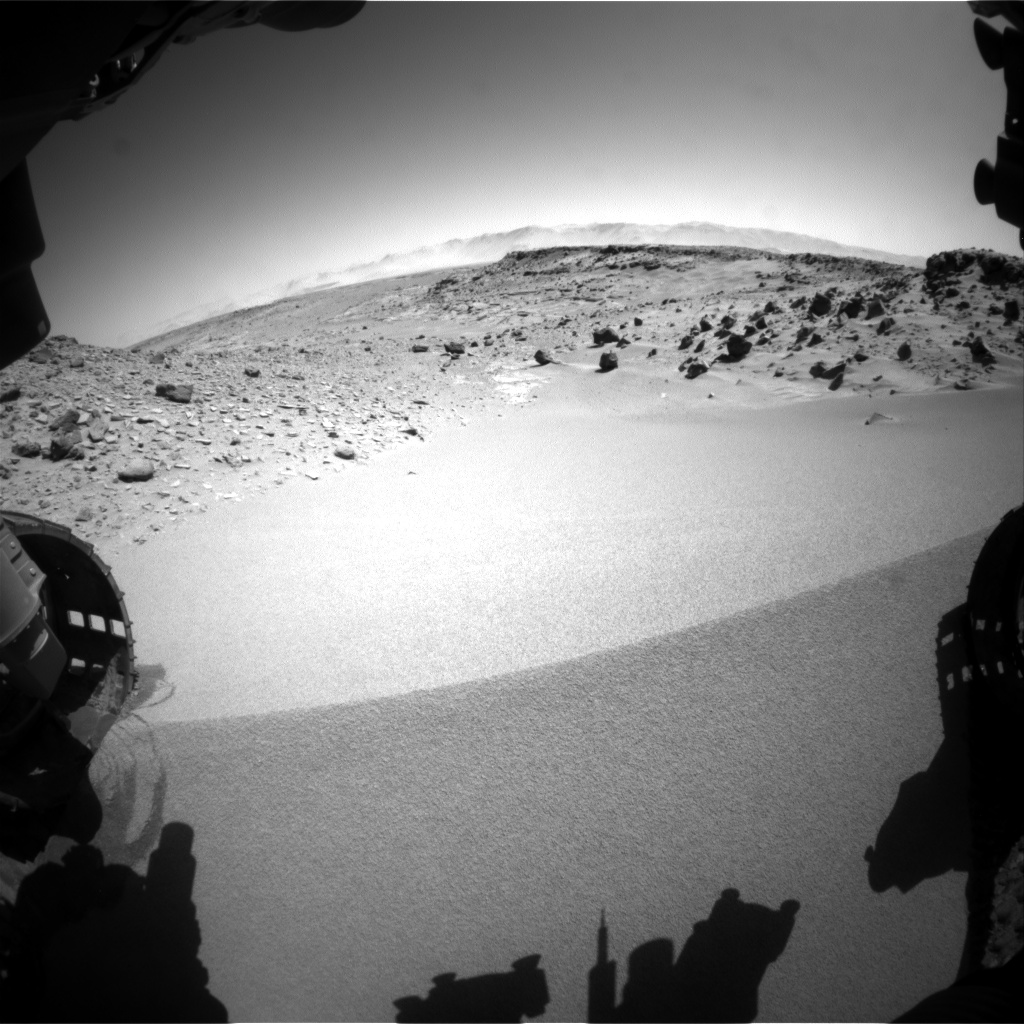 Nasa's Mars rover Curiosity acquired this image using its Front Hazard Avoidance Camera (Front Hazcam) on Sol 534, at drive 292, site number 26