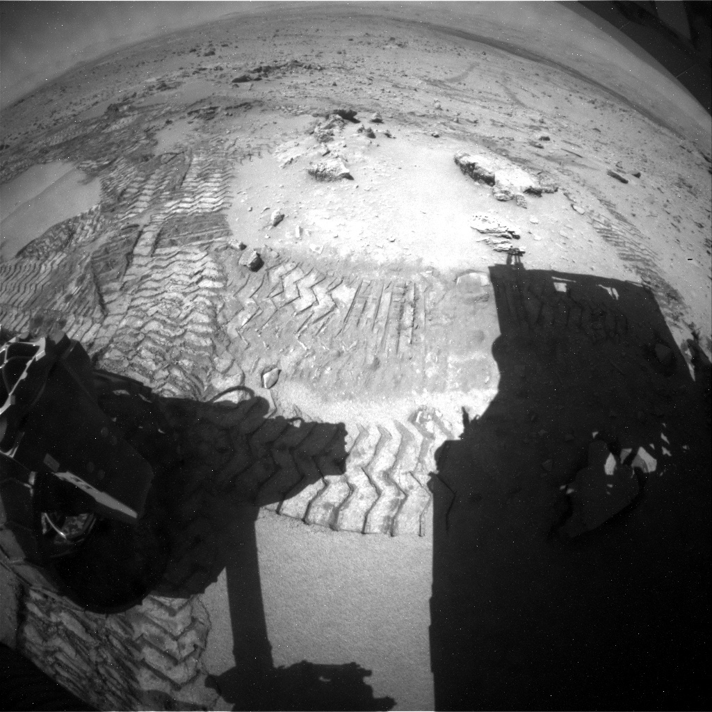 NASA's Mars rover Curiosity acquired this image using its Rear Hazard Avoidance Cameras (Rear Hazcams) on Sol 534