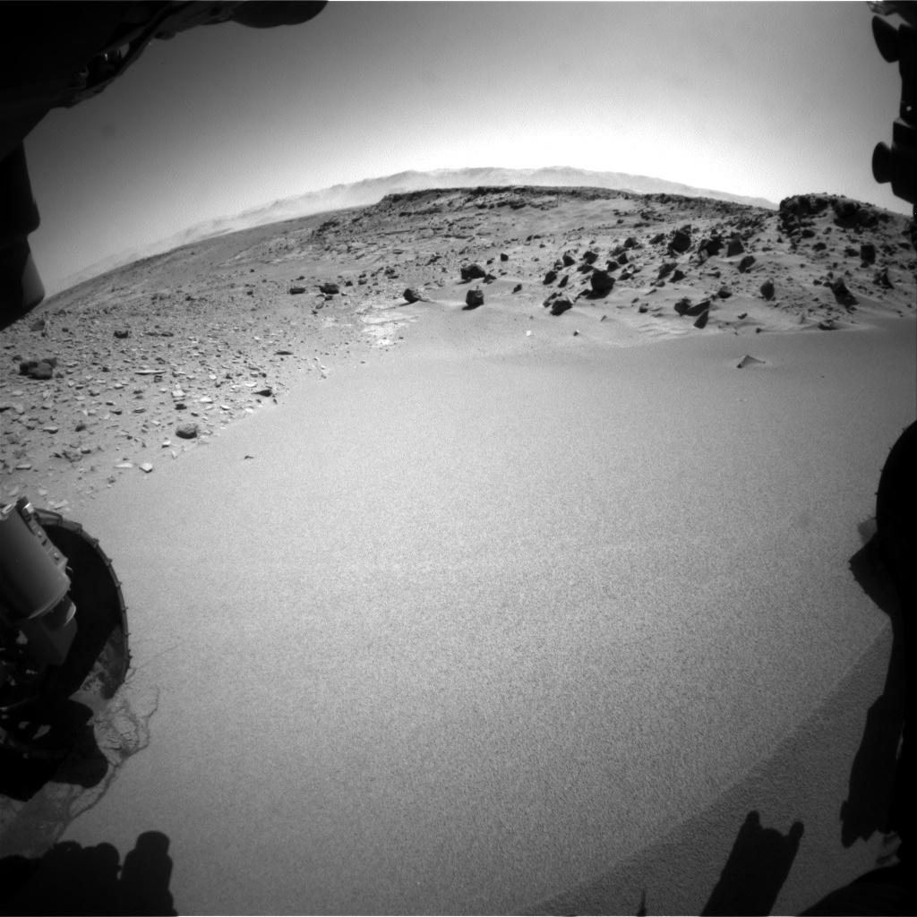 NASA's Mars rover Curiosity acquired this image using its Front Hazard Avoidance Cameras (Front Hazcams) on Sol 535