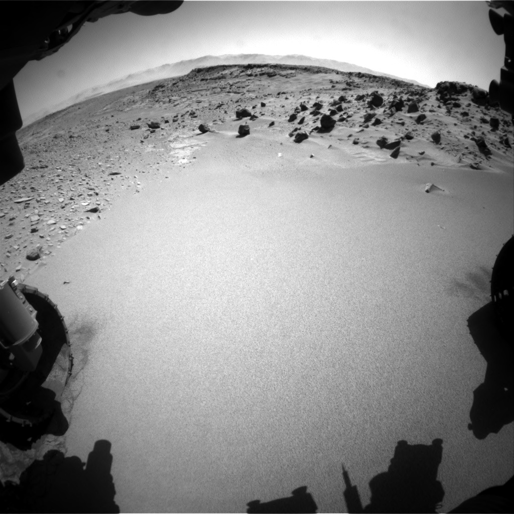 Nasa's Mars rover Curiosity acquired this image using its Front Hazard Avoidance Camera (Front Hazcam) on Sol 535, at drive 304, site number 26
