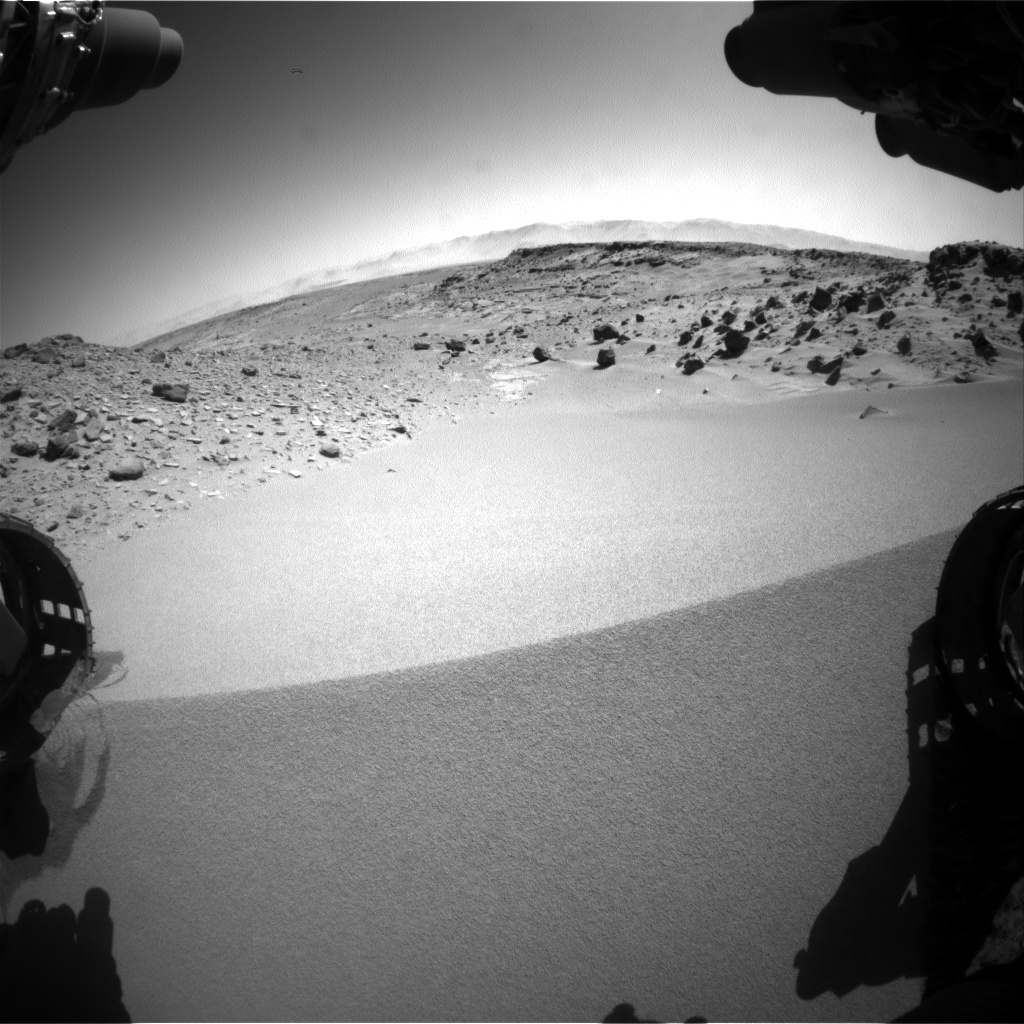 Nasa's Mars rover Curiosity acquired this image using its Front Hazard Avoidance Camera (Front Hazcam) on Sol 535, at drive 292, site number 26