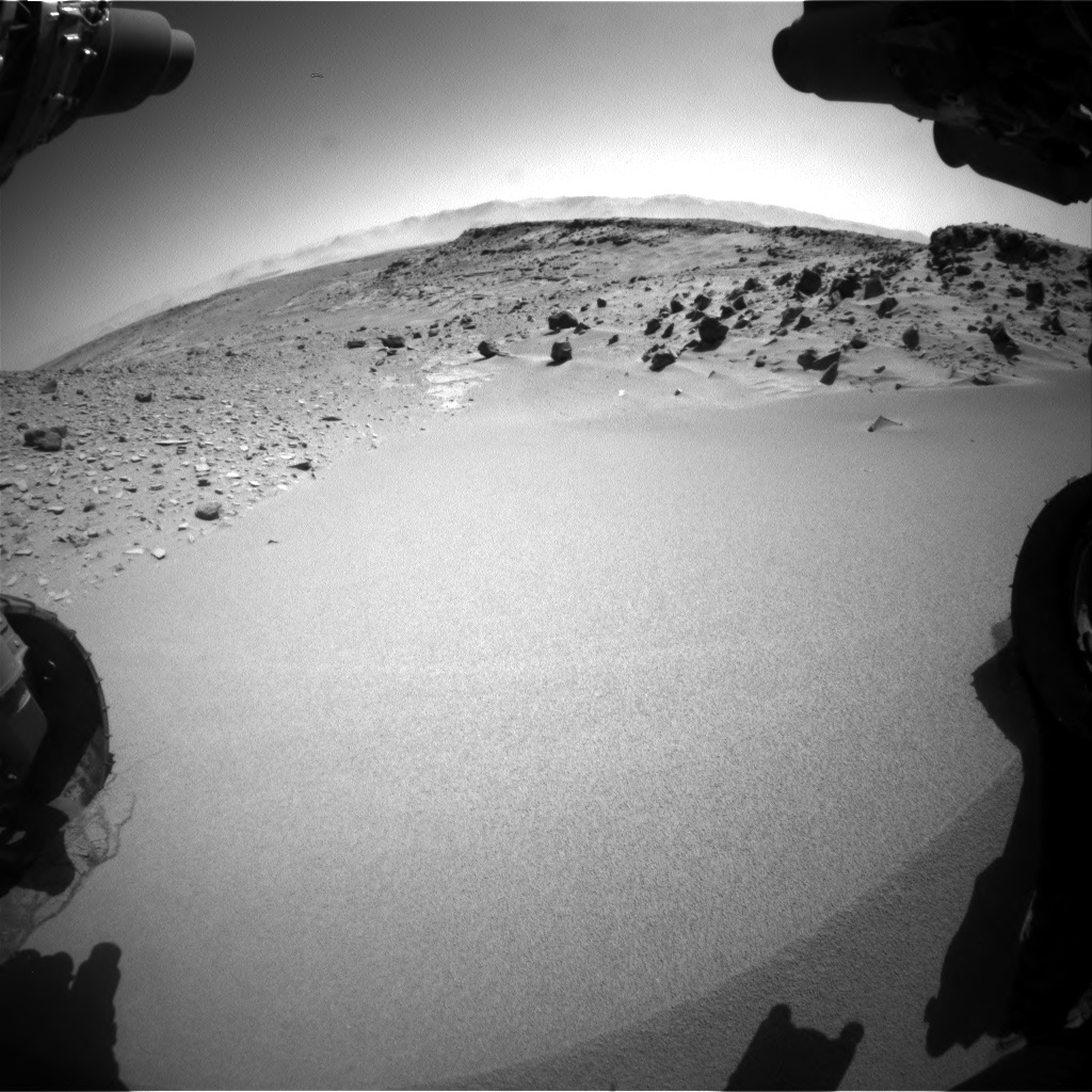 Nasa's Mars rover Curiosity acquired this image using its Front Hazard Avoidance Camera (Front Hazcam) on Sol 535, at drive 300, site number 26