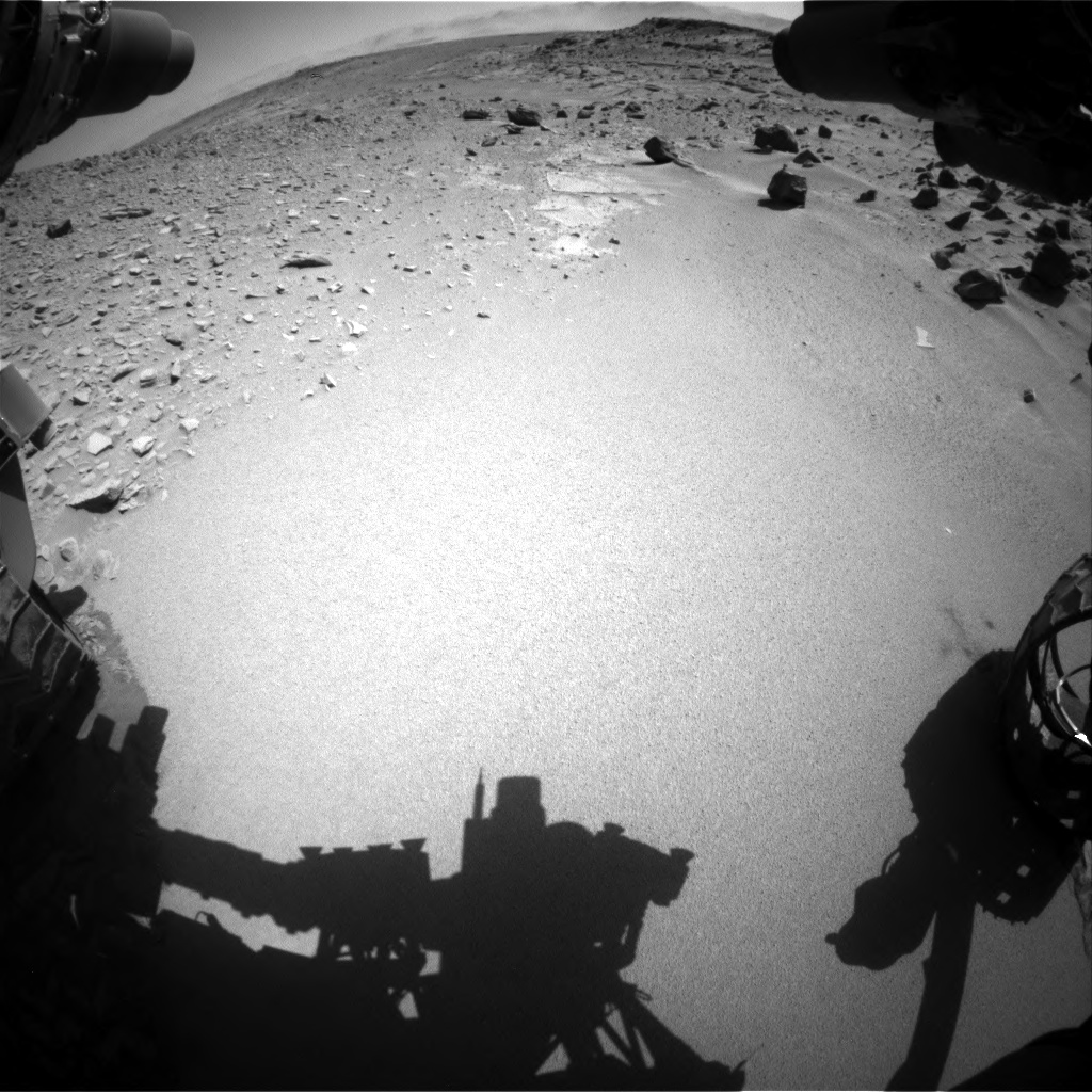 Nasa's Mars rover Curiosity acquired this image using its Front Hazard Avoidance Camera (Front Hazcam) on Sol 535, at drive 320, site number 26