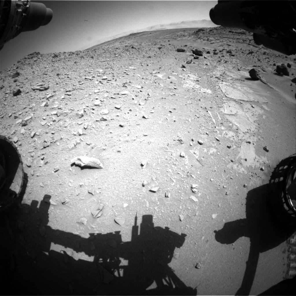 Nasa's Mars rover Curiosity acquired this image using its Front Hazard Avoidance Camera (Front Hazcam) on Sol 535, at drive 338, site number 26