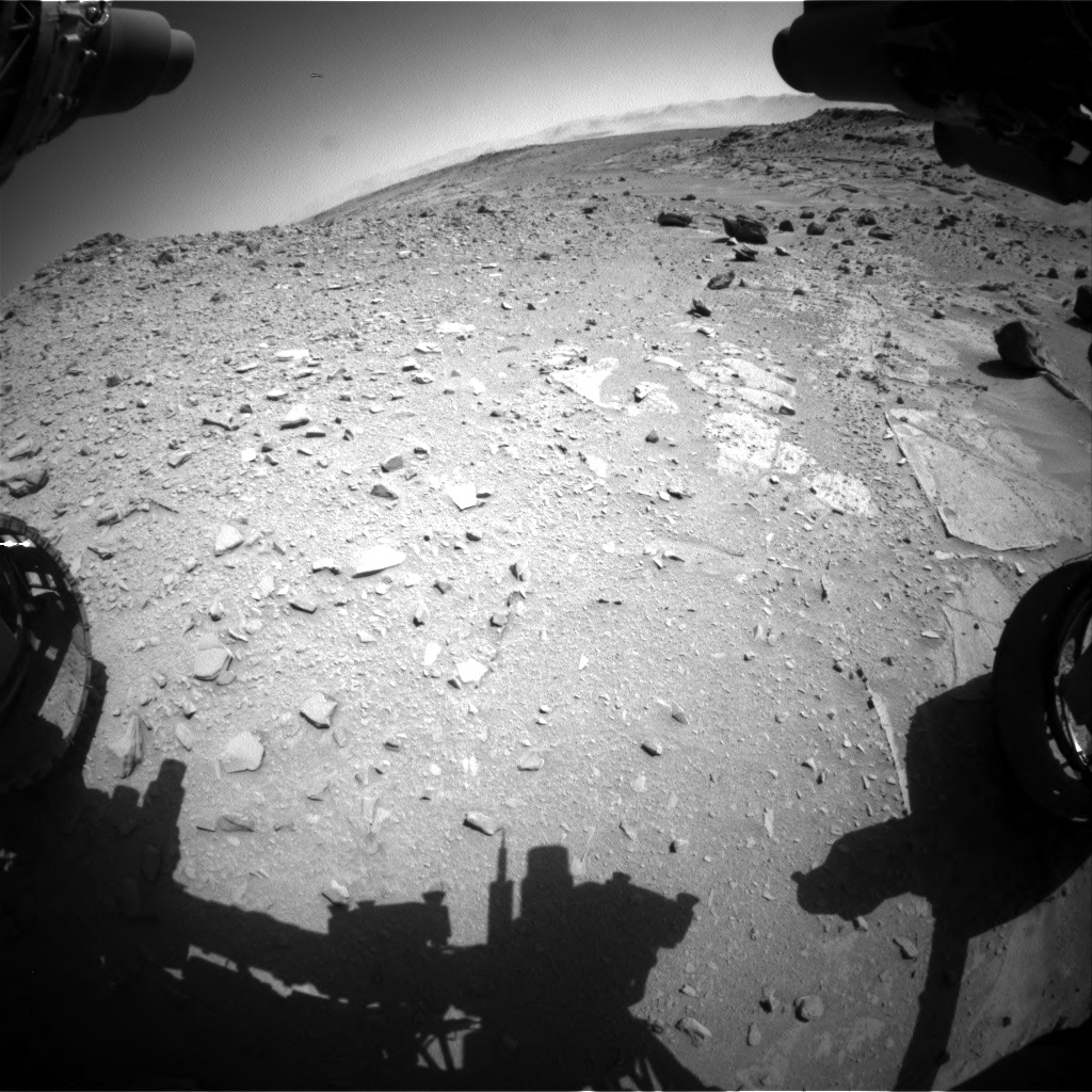 Nasa's Mars rover Curiosity acquired this image using its Front Hazard Avoidance Camera (Front Hazcam) on Sol 535, at drive 344, site number 26