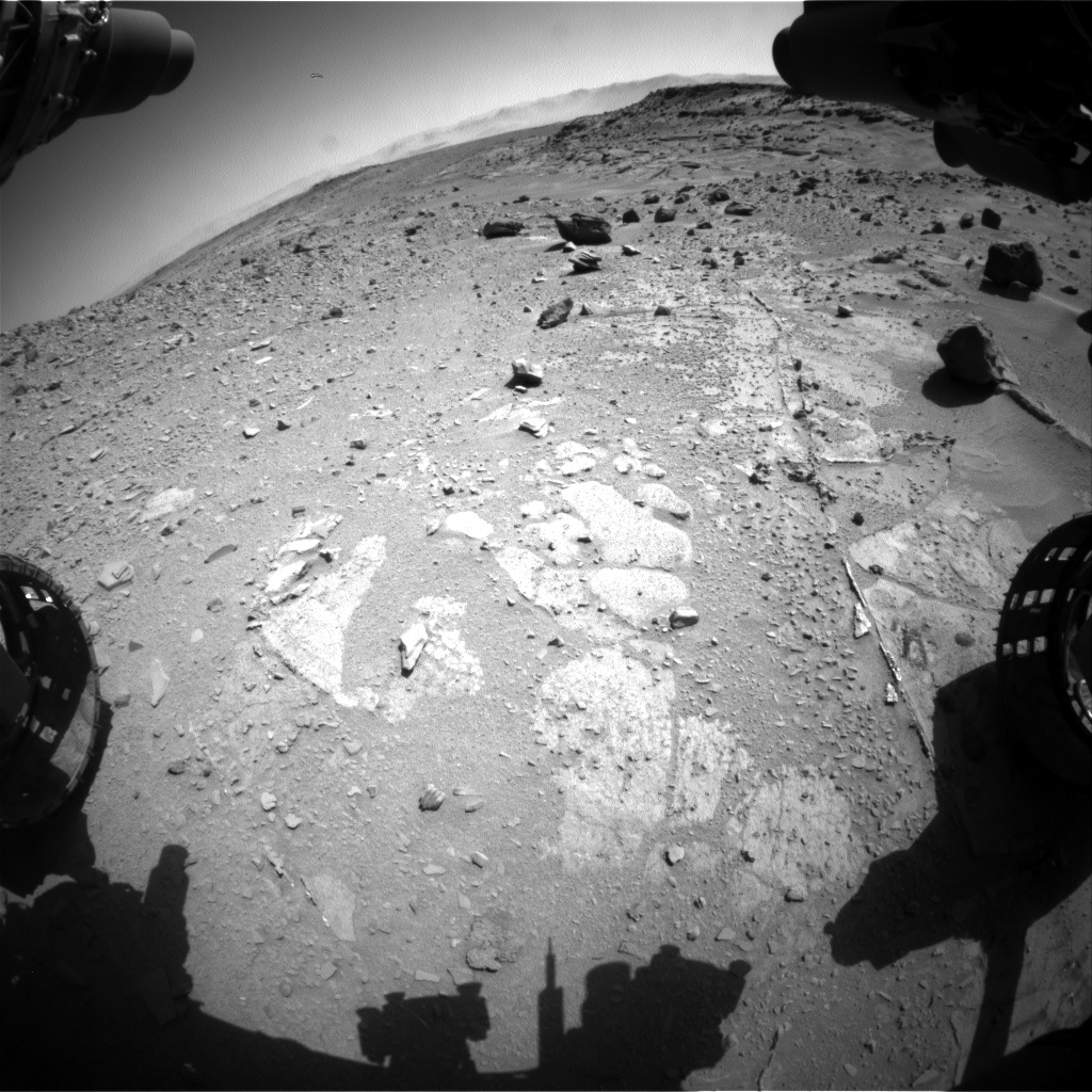 Nasa's Mars rover Curiosity acquired this image using its Front Hazard Avoidance Camera (Front Hazcam) on Sol 535, at drive 366, site number 26