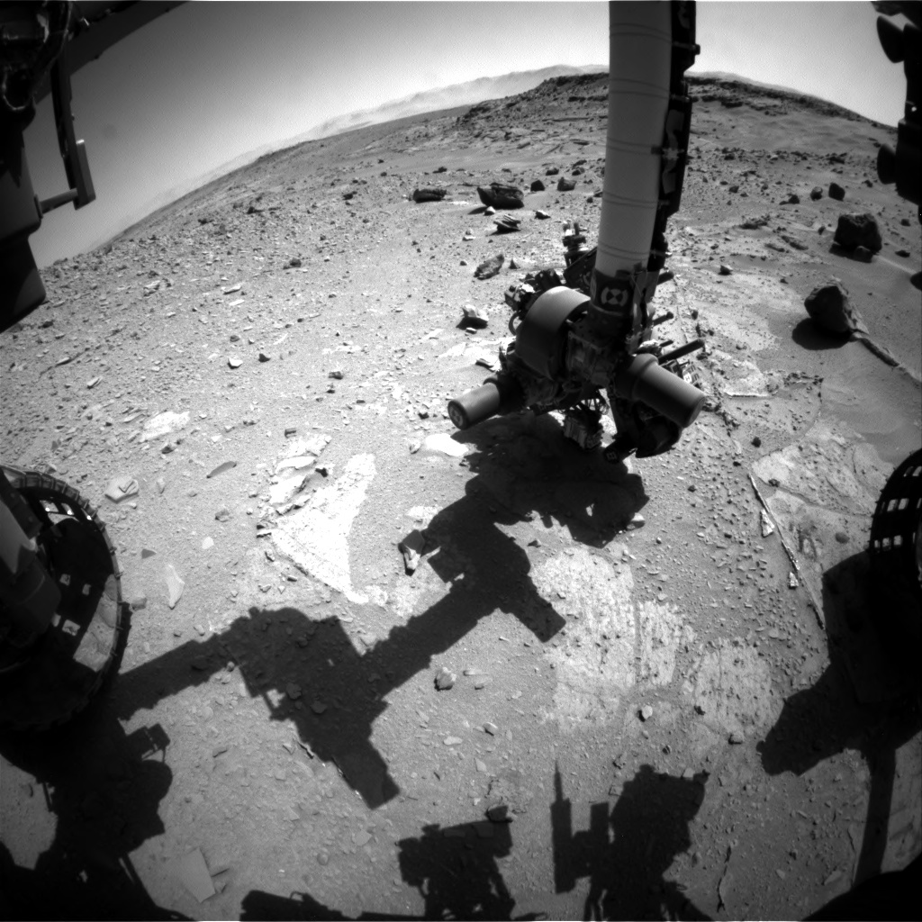 Nasa's Mars rover Curiosity acquired this image using its Front Hazard Avoidance Camera (Front Hazcam) on Sol 537, at drive 366, site number 26