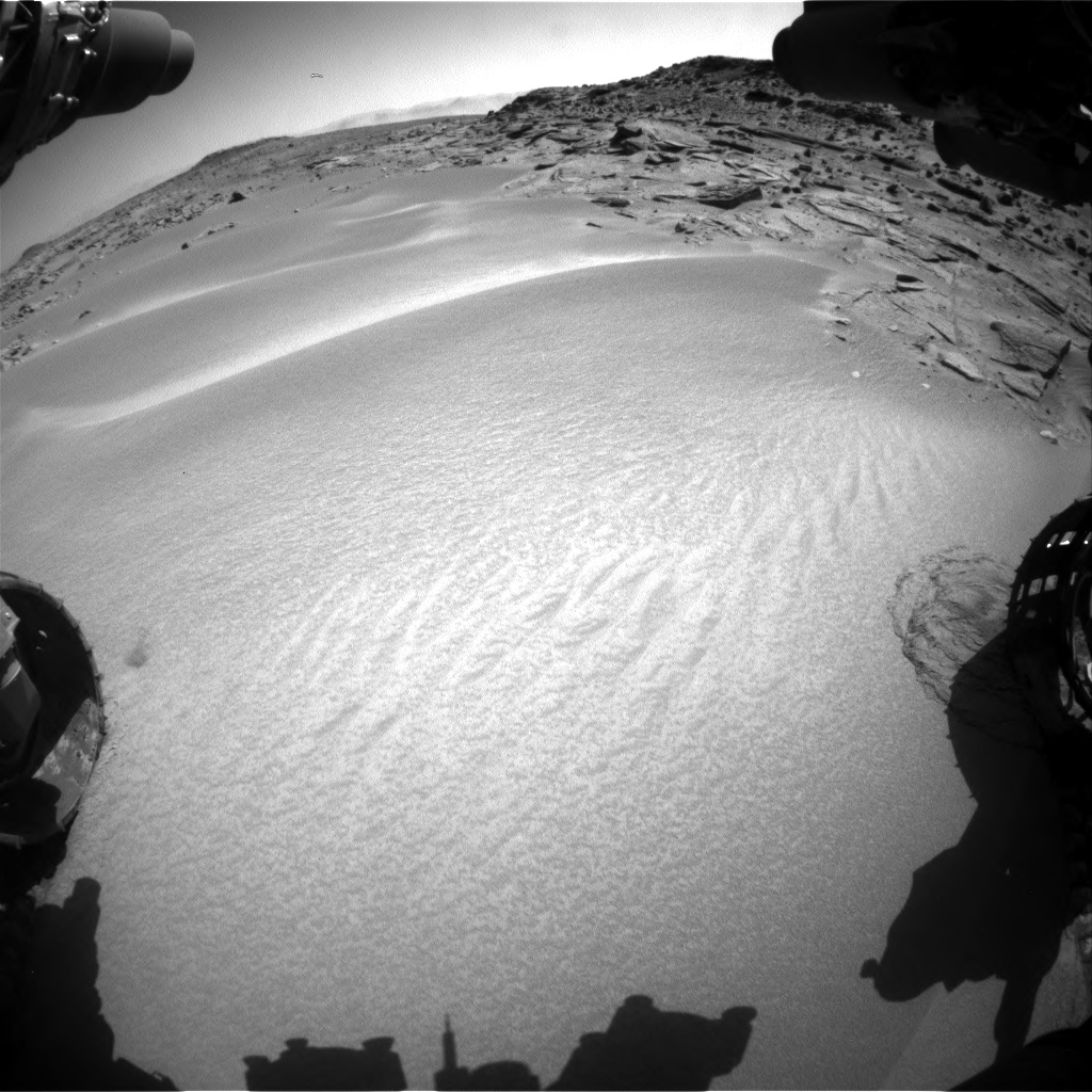 Nasa's Mars rover Curiosity acquired this image using its Front Hazard Avoidance Camera (Front Hazcam) on Sol 538, at drive 516, site number 26