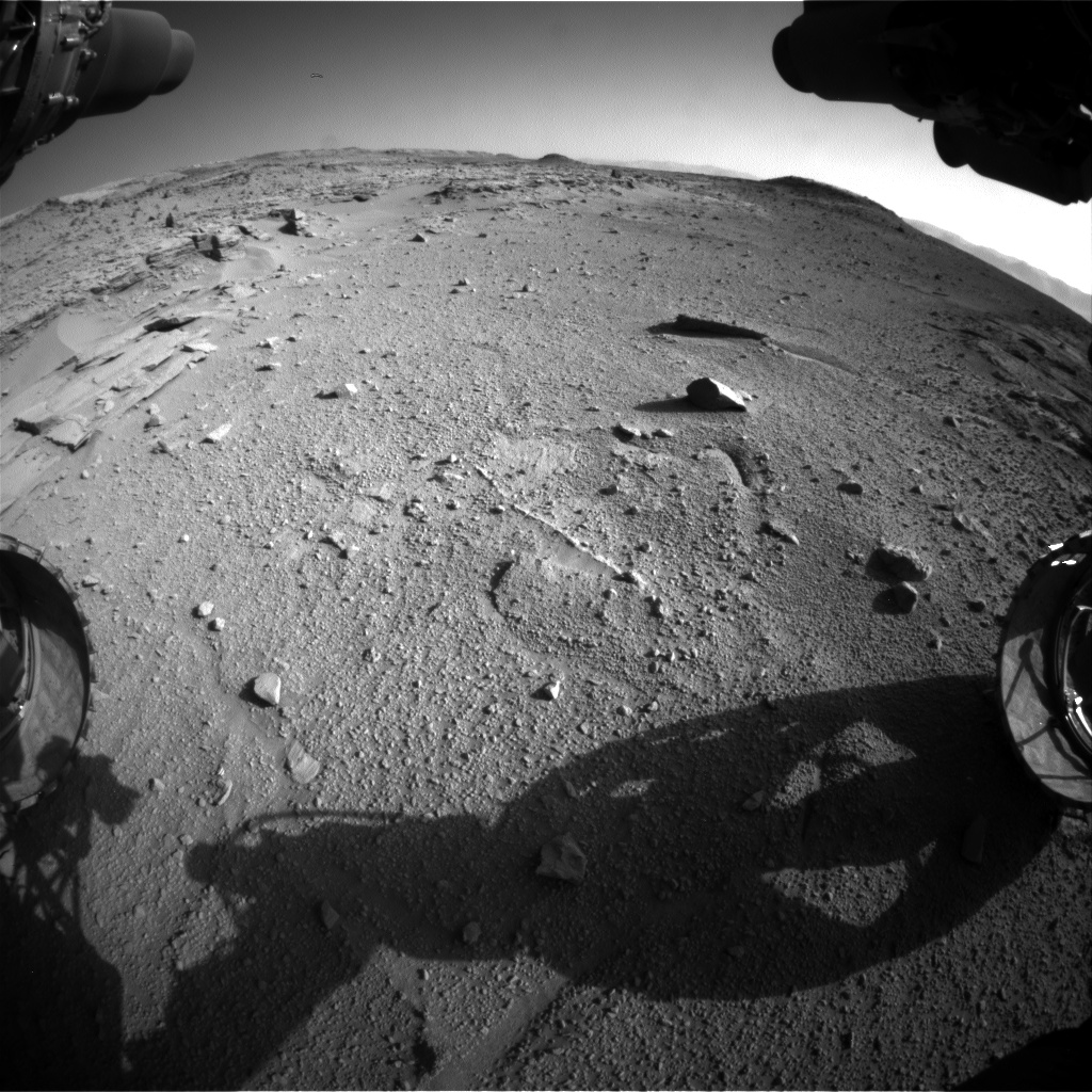 Nasa's Mars rover Curiosity acquired this image using its Front Hazard Avoidance Camera (Front Hazcam) on Sol 538, at drive 708, site number 26