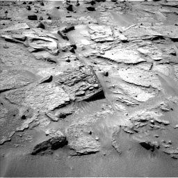 Nasa's Mars rover Curiosity acquired this image using its Left Navigation Camera on Sol 538, at drive 552, site number 26