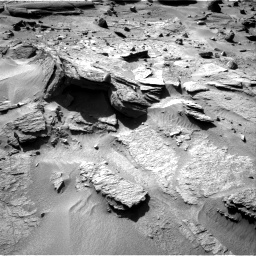 Nasa's Mars rover Curiosity acquired this image using its Right Navigation Camera on Sol 538, at drive 588, site number 26